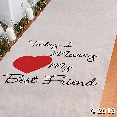 Selecting an Aisle Runner for a Wedding Ceremony - Wedding