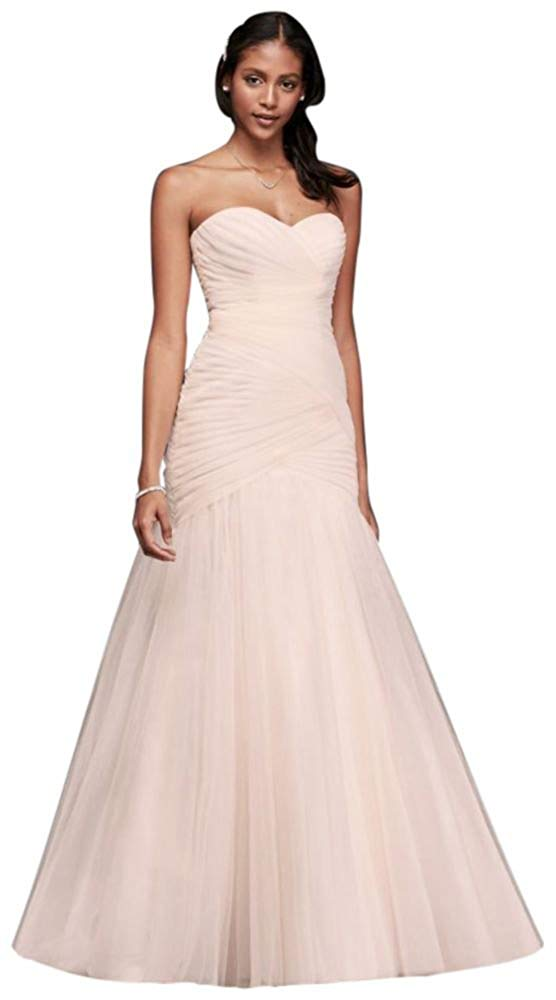 strapless-ruched-bodice-tulle-pink-dress