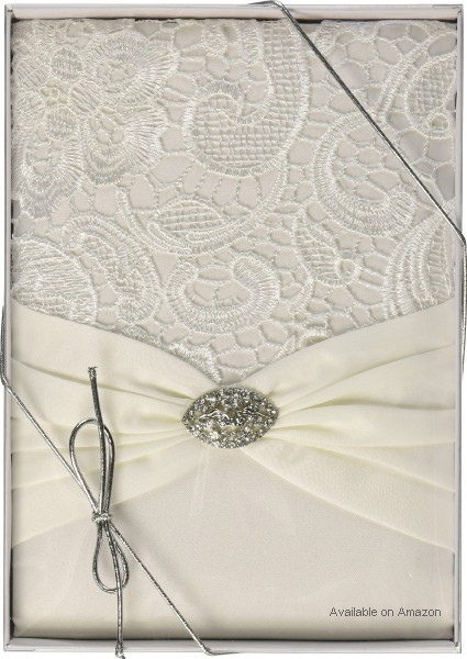 Lace Wedding Guest Book