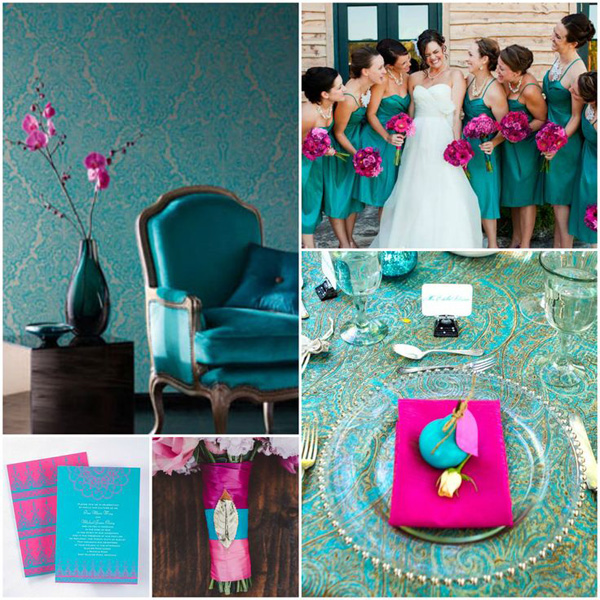 teal-&-fuchsia-wedding-color