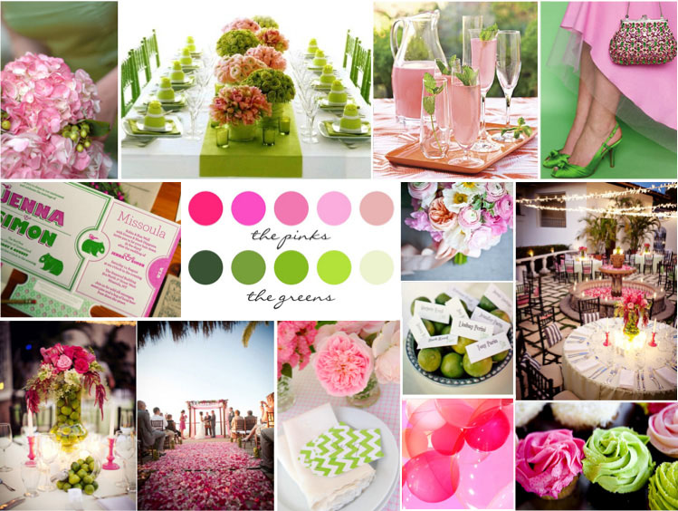 bright-pink-&-pale-green-wedding-color