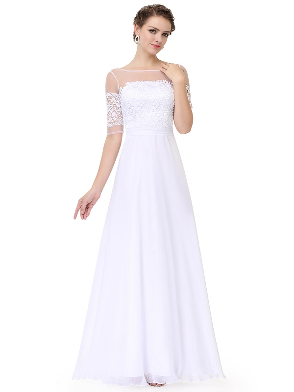 Tahari Illusion Gown