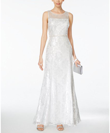 Macys Tahari Illusion Gown