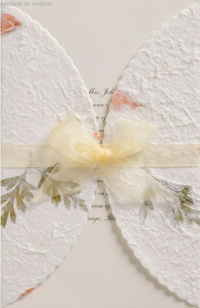 Amazon Pressed Floral Wedding Invitation Kit