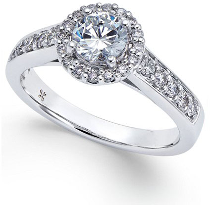 Macys Diamond Halo Engagement Ring