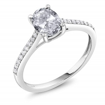 Classic Set Diamond Engagement Ring
