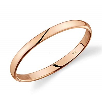 Amazon Classic Fit Gold Wedding Band
