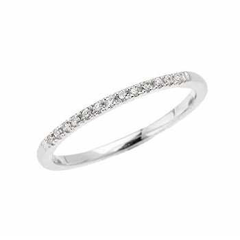 Straight Diamond Wedding Ring Band