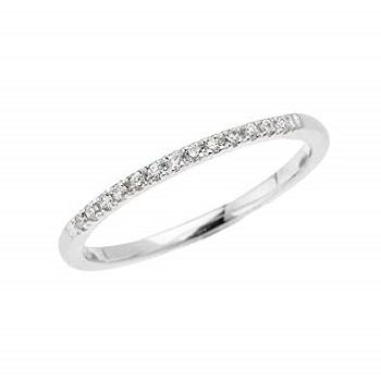 Straight Diamond Wedding Ring Band