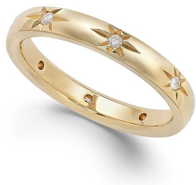 Macys Diamond Star Wedding Band