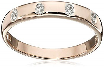 Diamond Star Wedding Band