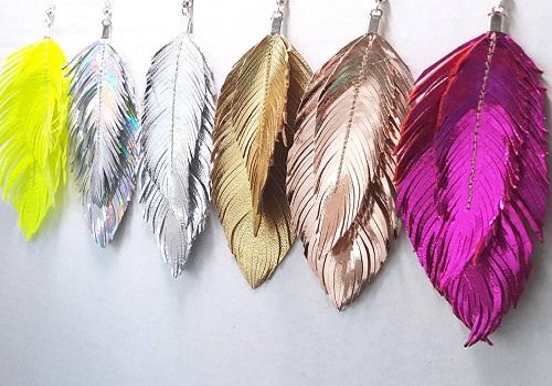 Etsy Feather Earrings