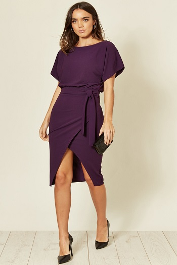Judith wrap front batwing dress