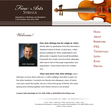 Fine Arts Strings wedding vendor preview