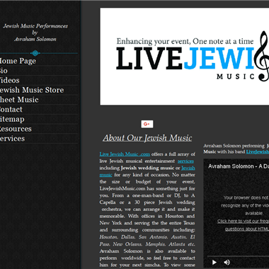 Live Jewish Music wedding vendor preview