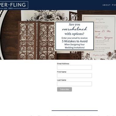 Paper Fling wedding vendor preview