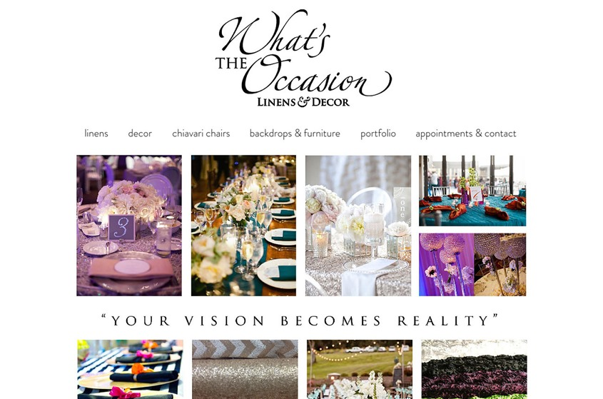 What's the Occasion Linens & Decor wedding vendor photo