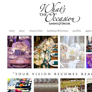What's the Occasion Linens & Decor wedding vendor preview