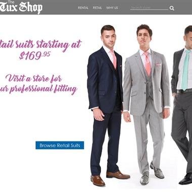 The Tux Shop wedding vendor preview