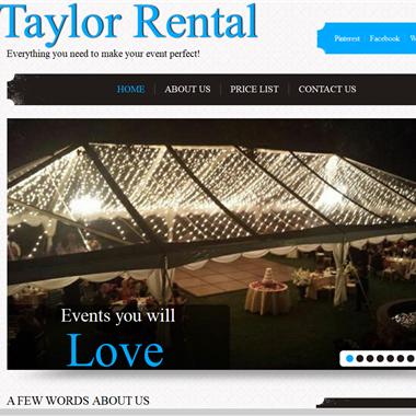 Taylor Rental wedding vendor preview