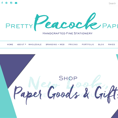 Pretty Peacock Paperie wedding vendor preview
