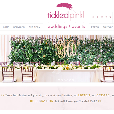 Tickled Pink Brides wedding vendor preview