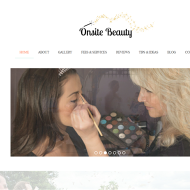 Onsite Beauty wedding vendor preview