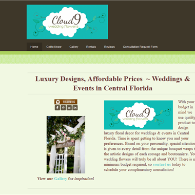 Cloud 9 Wedding Flowers wedding vendor preview
