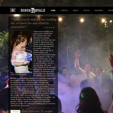 Disco Royale Entertainment wedding vendor preview