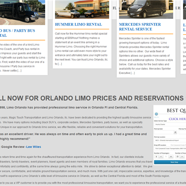 Limo Orlando wedding vendor preview