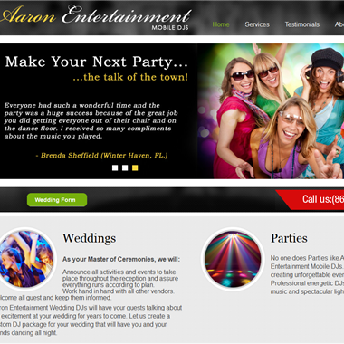 Aaron Entertainment wedding vendor preview