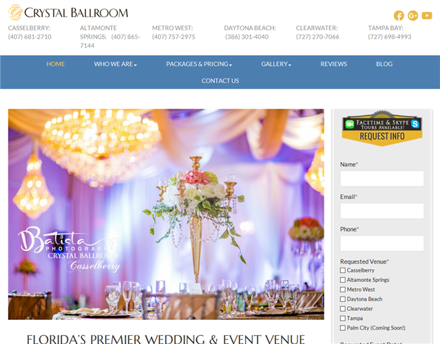 Crystal Ballroom Orlando wedding vendor photo