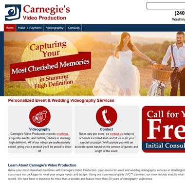 Carnegie's Video wedding vendor preview