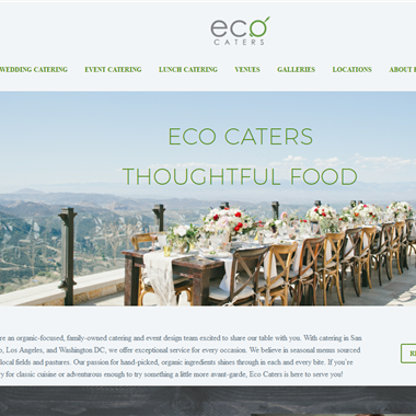 Eco Caters wedding vendor preview
