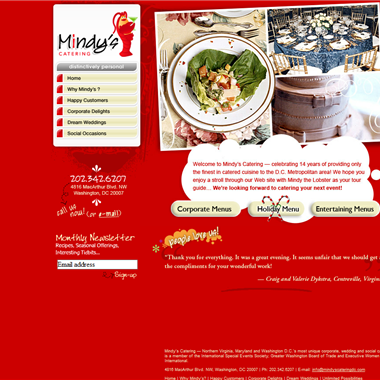 Mindy's Catering DC wedding vendor preview