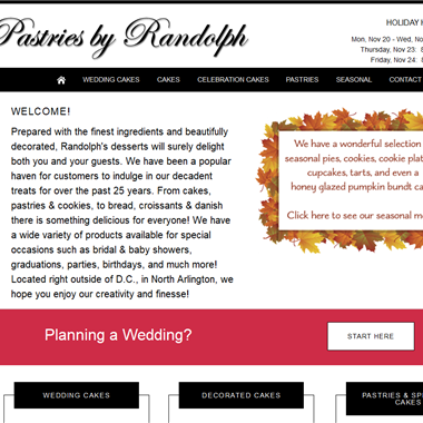Pastries By Randolph wedding vendor preview