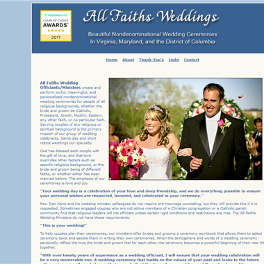 All Faiths Weddings wedding vendor preview