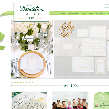 The Dandelion Patch wedding vendor preview