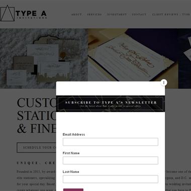 Type A Invitations wedding vendor preview