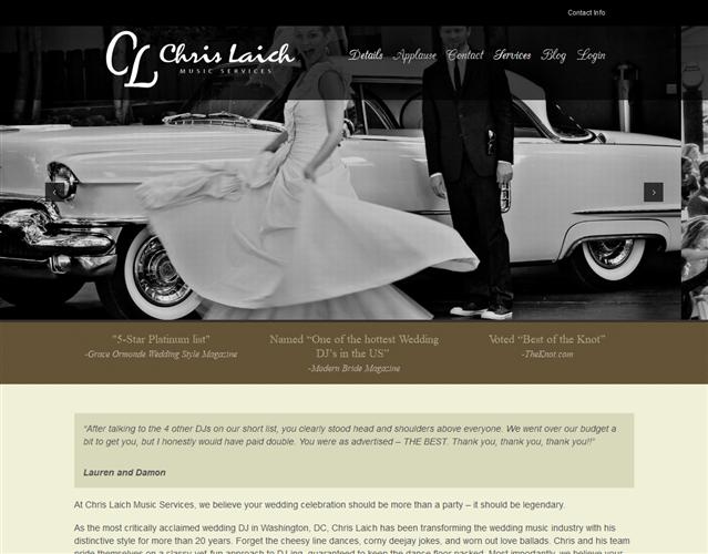 Chris Laich wedding vendor photo