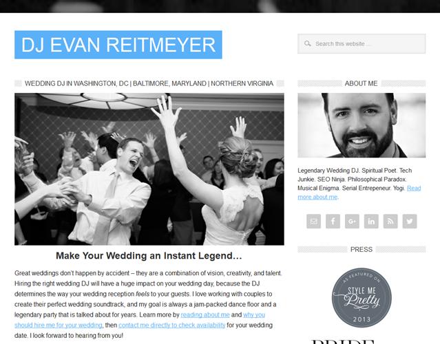 Dj Evan Reitmeyer wedding vendor photo