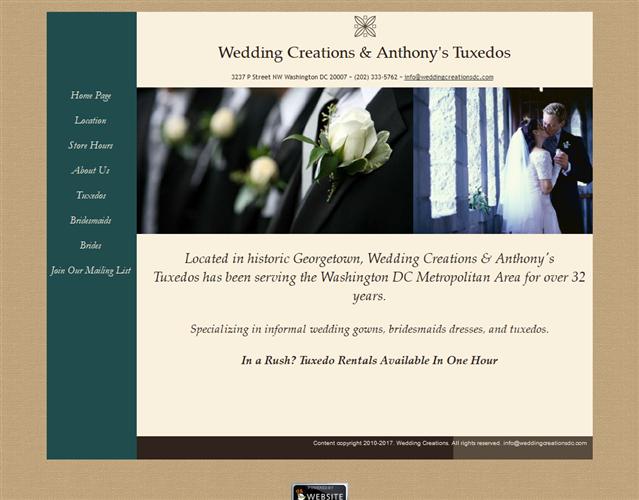 Wedding Creations DC wedding vendor photo