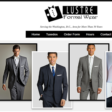 Lustre Formal Wear wedding vendor preview