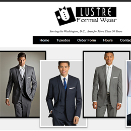 Photo of Lustre Formal Wear, a wedding tuxedos and suits in Washington DC