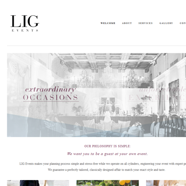 Lig Events wedding vendor preview