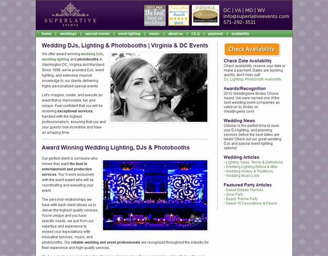 Superlative Events wedding vendor photo