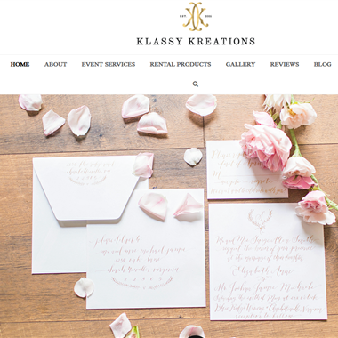 Klassy Kreations wedding vendor preview