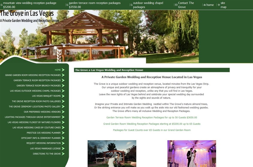 The Grove Las Vegas Wedding Venue