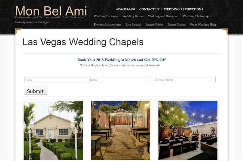 Mon Bel Ami Wedding Chapel Las Vegas Wedding Venue