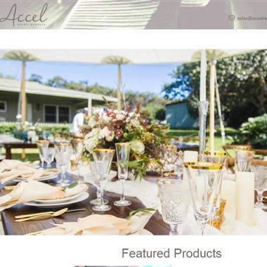 Accel Event Rentals wedding vendor preview